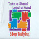 Take A Stand Lend A Hand Stop Bullying (White) Adult T-Shirt