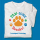 Paw-Some Reader! (White) Adult T-Shirt - Personalization Available
