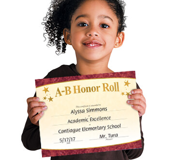 Recognize students' academic excellence and achievements with our premium quality certificates