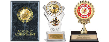 So easy to award your students for their outstanding achievements with our custom plaques and trophies