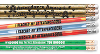 Recognize students for setting & achieving perfect attendance with our budget-friendly pencils.