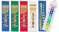 Recognize outstanding attendance with our unique award ribbons.