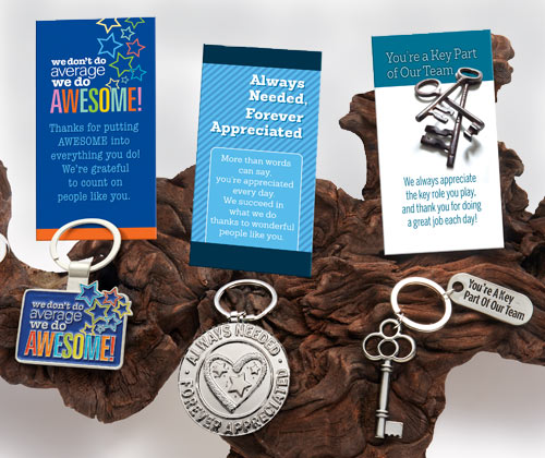 Employee Recognition and Appreciation Key Tags Gifts