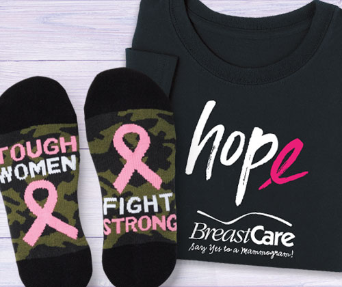 Click to see our Breast Cancer Awareness Apparel, make a statement with our many available designs