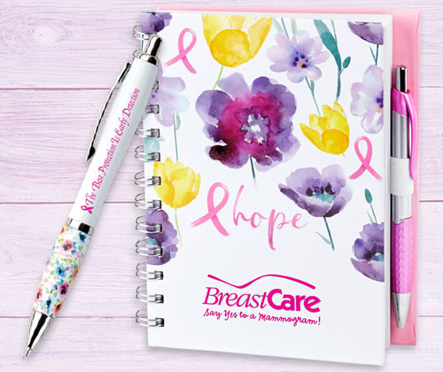 Breast Cancer Awareness Stationery and Pens
