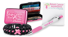 Click to see our Breast Cancer Awareness gifts and giveaways, incentives and educational tools