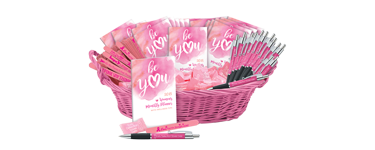 Breast Cancer awareness display baskets & assortment packs gifts