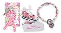 Breast Cancer Awareness key tags and jewelry, perfect for daily reminders from pink ribbon shape paracord to charm bracelets.