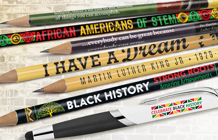 Black History Month Pens and Pencils