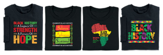 Black History T-Shirts reflect pride in the past, optimism toward the future.