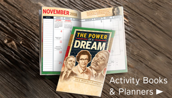Activity books teach students about outstanding black leaders, institutions and milestones that transformed the nation. Black History education and inspiration all year long