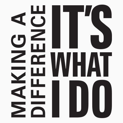 Making A Difference It's What I Do (NEW!) Theme from Positive Promotions