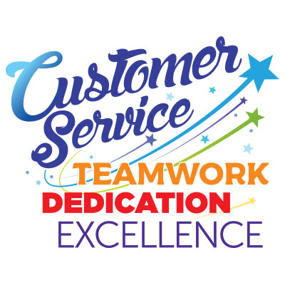 Customer Service Teamwork Dedication Excellence Theme from Positive Promotions