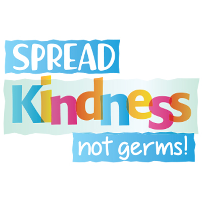 Spread Kindness Not Germs Theme from Positive Promotions