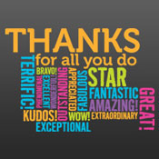 Thanks For All You Do (Wordcloud)