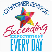 Customer Service Exceeding Expectations Every Day Theme from Positive Promotions