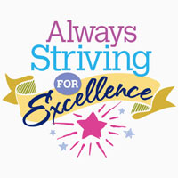 Always Striving For Excellence Theme from Positive Promotions
