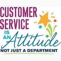Customer Service Is An Attitude Not Just A Department Theme from Positive Promotions