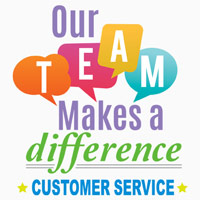 Our Team Makes A Difference Customer Service Theme from Positive Promotions