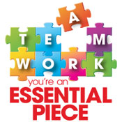 Teamwork You're An Essential Pieces Theme from Positive Promotions