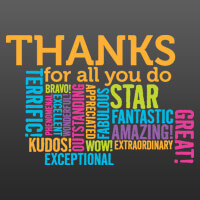Thanks Word Cloud Theme from Positive Promotions
