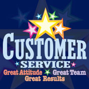 Customer Service Great Attitude Great Team Great Results Theme from Positive Promotions