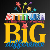 Attitude Makes A Big Difference Theme from Positive Promotions