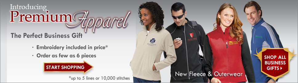 Promotional premium apparel provide year-long brand exposure. Add your company logo to one of our promotional premium apparel for your next giveaway.
