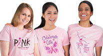 Think Pink for your Breast Care Awareness Event with our pink t-shirts