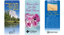 Church spiritual bookmarks and bible markers with chapters or verses gifts. Church resources bookmarks educational tools