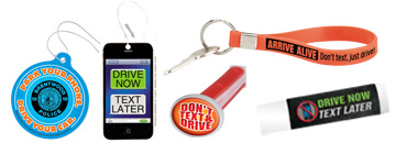 Encourage safety on the road and in the car with our selection of distracted driving awareness products.