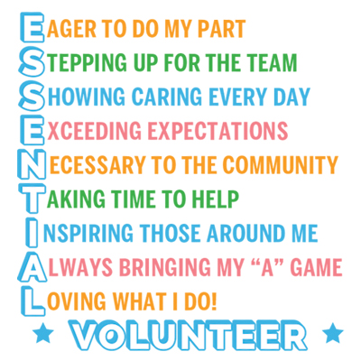 E.S.S.E.N.T.I.A.L Volunteer Theme from Positive Promotions