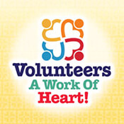 Volunteers A Work Of Heart Theme from Positive Promotions