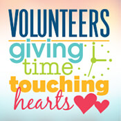 Volunteers Giving Time Touching Hearts Theme from Positive Promotions
