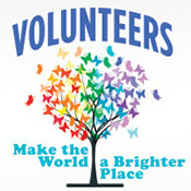 Volunteers Make The World A Brighter Place Theme from Positive Promotions