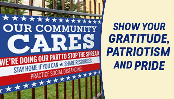 Support Community Banners to Show Gratitude