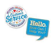 Shop all of our Customer Service recognition Lapel Pins mounted on a presentation card at no extra charge
