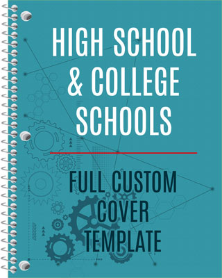 High School and College Cover template download