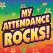 My Attendance Rocks Theme from Positive Promotions
