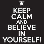 Keep Calm & Believe In Yourself Theme from Positive Promotions