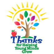 Thanks For Helping Young Minds Grow Theme from Positive Promotions