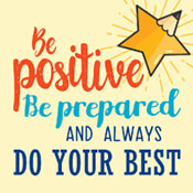 Be Positive Be Prepared And Always Do Your Best Theme from Positive Promotions