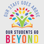 Our Staff Goes Above, Our Students Go Beyond Theme from Positive Promotions