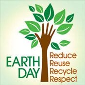 Earth Day Reduce Reuse Recycle Respect Theme from Positive Promotions