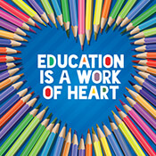 Education Is A Work Of Heart Theme from Positive Promotions