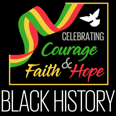 Black History Celebrating Courage Faith And Hope themed products
