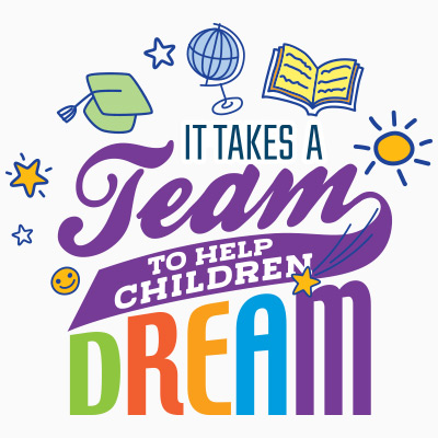 It Takes A Team To Help Children Dream Theme from Positive Promotions