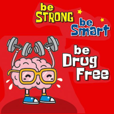Be Smart Be Strong Be Drug Free Theme from Positive Promotions