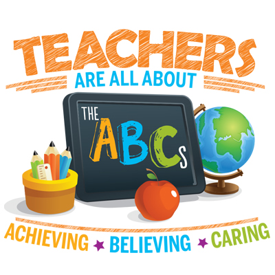 Teachers Are All About Achieving Believing Caring Theme from Positive Promotions