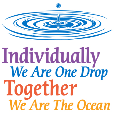 Individually We Are One Drop Together We are the Ocean Theme from Positive Promotions